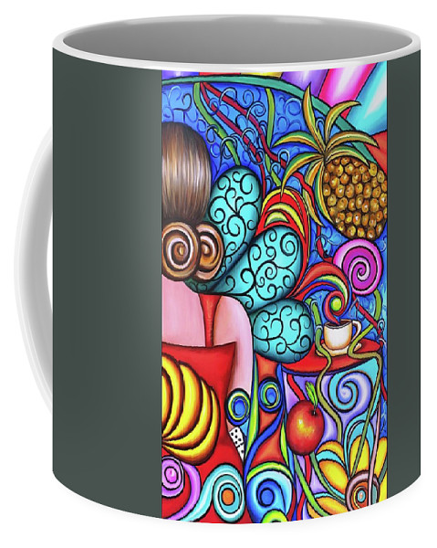Cuba Coffee Mug featuring the painting On My Mind by Annie Maxwell