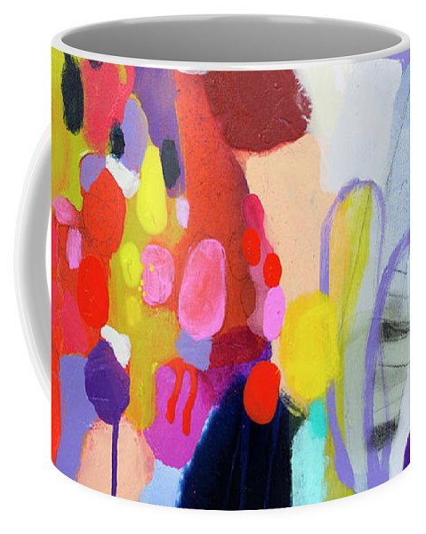 Abstract Coffee Mug featuring the painting On My Mind by Claire Desjardins