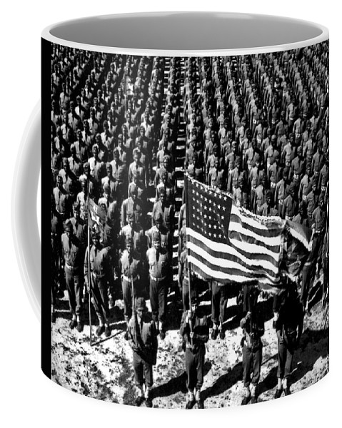 Ft Bragg Coffee Mug featuring the photograph On Parade by American School
