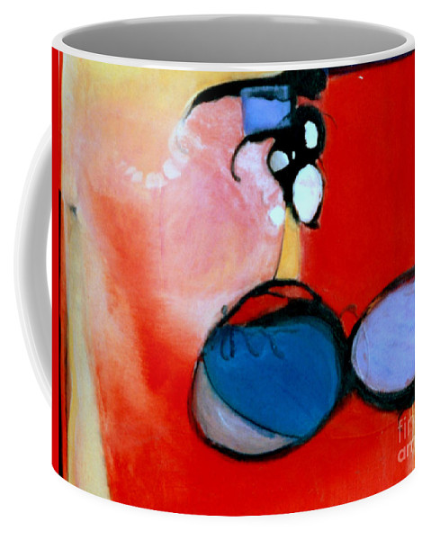 Abstract Coffee Mug featuring the painting On The Ball by Marlene Burns