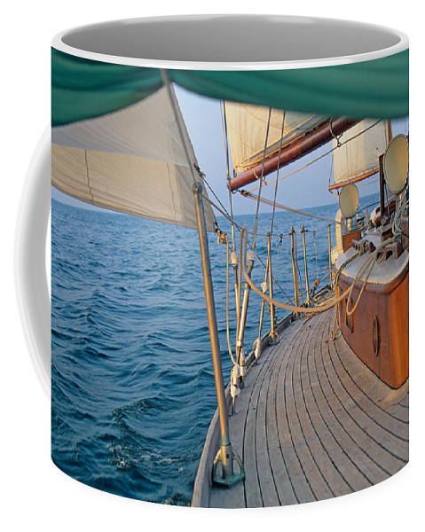 Nautical Coffee Mug featuring the photograph On The Beam by John Harmon