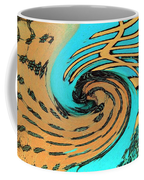 On The Edge Coffee Mug featuring the painting On The Edge by Dawn Hough Sebaugh
