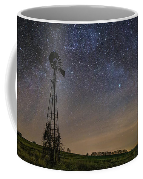 Windmill Coffee Mug featuring the photograph On The Farm by Aaron J Groen
