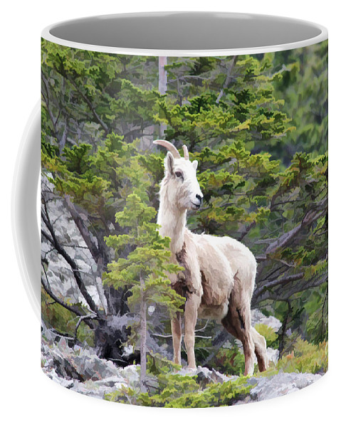 Animal Coffee Mug featuring the photograph On The Lookout by Teresa Zieba