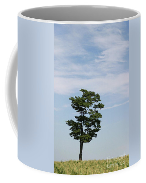 Abstract Coffee Mug featuring the photograph On The Prairie by Alan Look