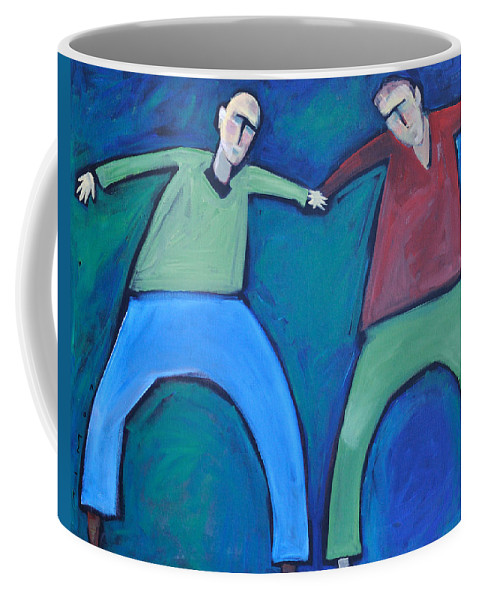 Men Coffee Mug featuring the painting On The Precipice by Tim Nyberg