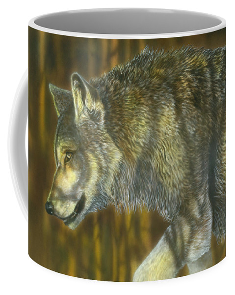 Coffee Mug featuring the painting On The Prowl by Wayne Pruse