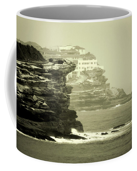 Landscapes Coffee Mug featuring the photograph On The Rugged Cliffs by Holly Kempe