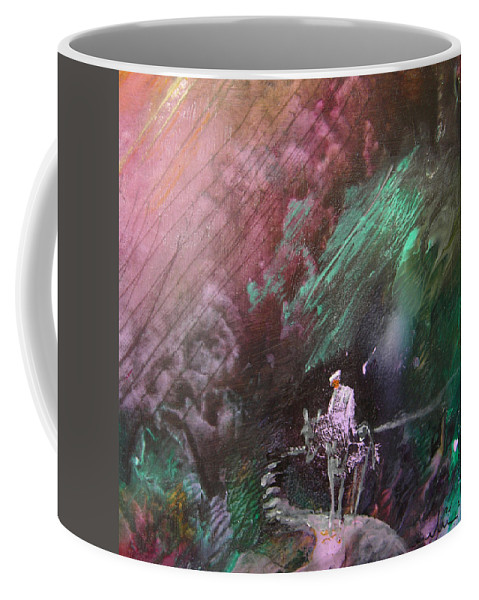 Acrylics Coffee Mug featuring the painting On The Way by Miki De Goodaboom