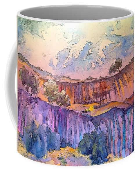 Spain Landscape Coffee Mug featuring the painting On The Way To Cazorla 03 by Miki De Goodaboom