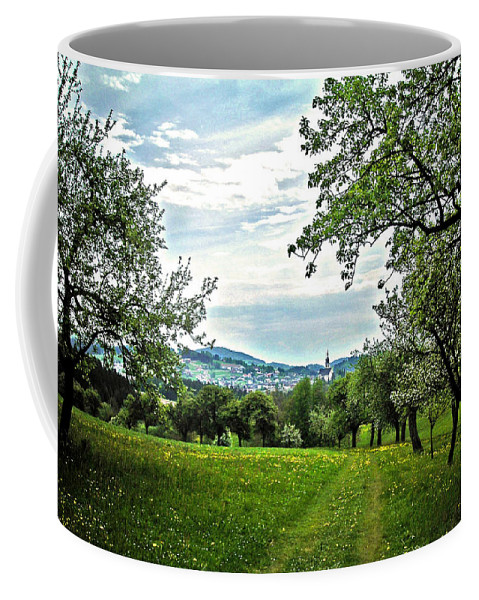 Europe Coffee Mug featuring the photograph On The Way To Gramastetten ... by Juergen Weiss