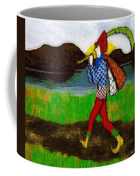 Fairy Tale Coffee Mug featuring the painting On The Way To Hamelin Town by RC DeWinter