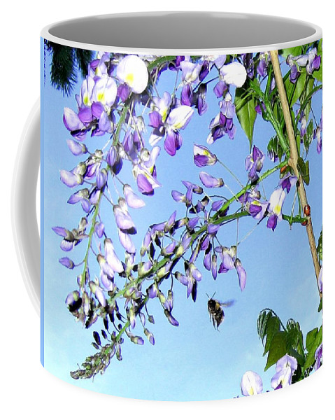 Honeybee Coffee Mug featuring the photograph On The Wing by Will Borden