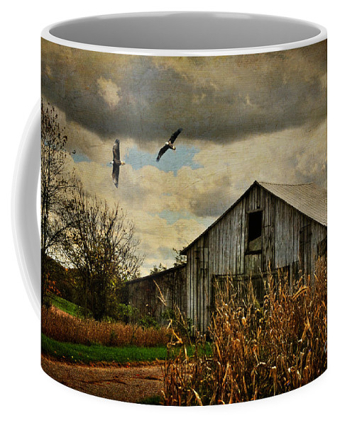 Barn Coffee Mug featuring the photograph On The Wings Of Change by Lois Bryan
