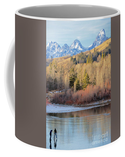 Ice Skating Coffee Mug featuring the photograph On Thin Ice by Daryl L Hunter