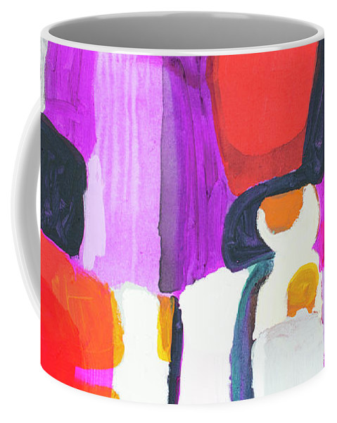 Abstract Coffee Mug featuring the painting On Time by Claire Desjardins