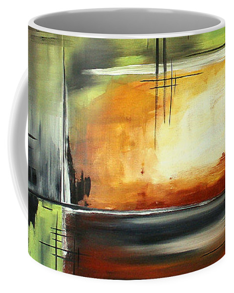 Abstract Coffee Mug featuring the painting On Track Original Madart Painting by Megan Duncanson