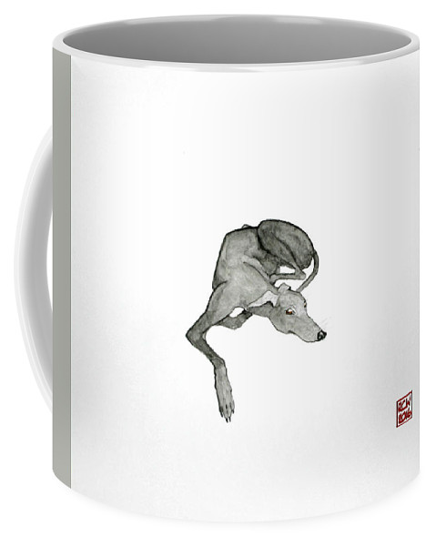 Dogs Coffee Mug featuring the painting On Watch by Richard Williamson