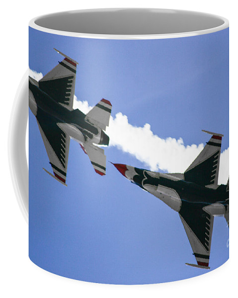 Air Force Coffee Mug featuring the photograph On Your Six by Chandra Nyleen