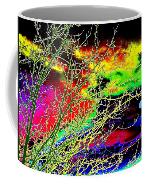 Dramatic Coffee Mug featuring the digital art Once In A Blue Moon by Will Borden