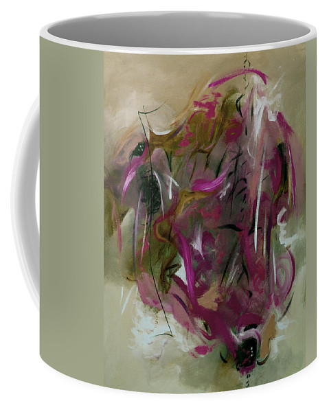 Abstract Coffee Mug featuring the painting Once by Ruth Palmer