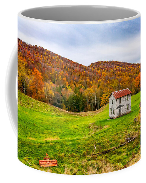 West Virginia Coffee Mug featuring the photograph Once Upon A Mountainside by Steve Harrington