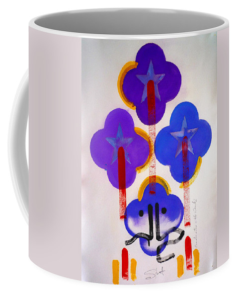 Drawing Coffee Mug featuring the painting Once Upon-a-time In The Woods by Charles Stuart