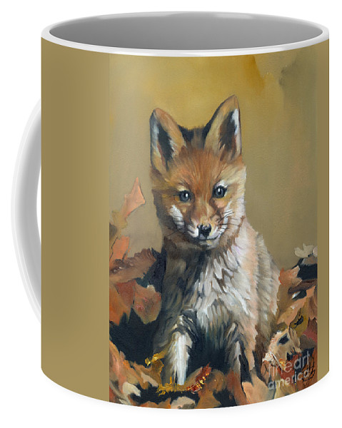 Fox Coffee Mug featuring the painting Once Upon A Time by J W Baker