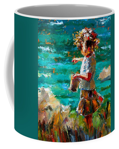 Children Coffee Mug featuring the painting One At A Time by Debra Hurd
