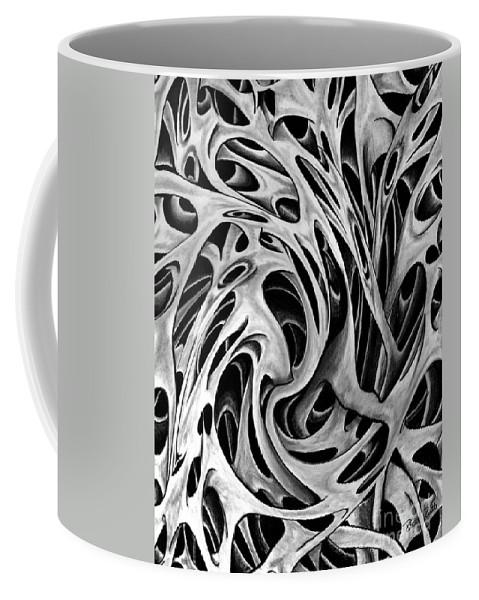 One Big Mistake Coffee Mug featuring the drawing One Big Mistake 5 by Peter Piatt