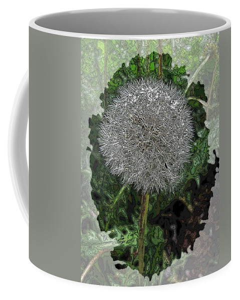 Nature Coffee Mug featuring the digital art One Dandy Lion by Tim Allen