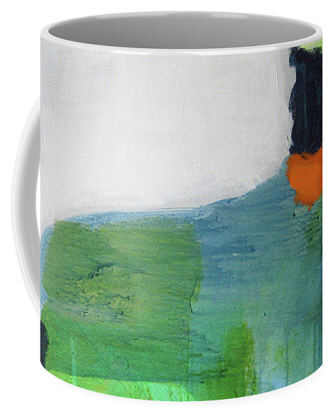 Abstract Coffee Mug featuring the painting One Day I Was Dreaming by Claire Desjardins