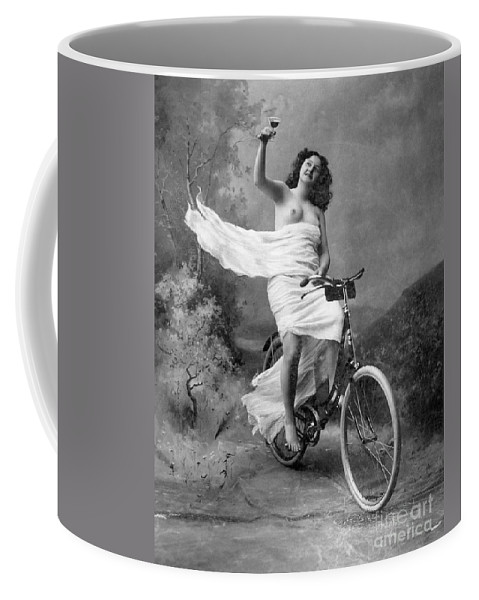 1900 Coffee Mug featuring the photograph One For The Road, C1900 by Granger