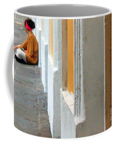 Sidewalk Coffee Mug featuring the photograph One Is The Loneliest Number by Debbi Granruth