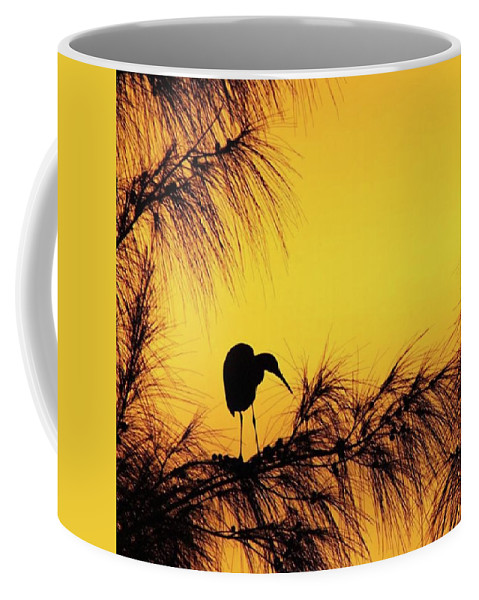 Egret Coffee Mug featuring the photograph One Of A Series Taken At Mahoe Bay by John Edwards