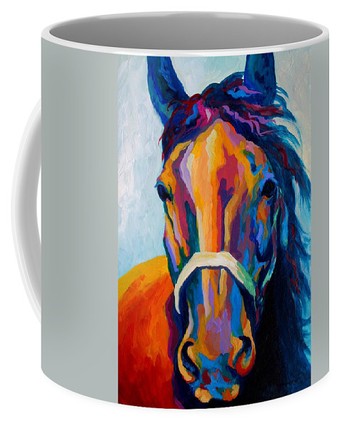 Western Coffee Mug featuring the painting One Of The Boys by Marion Rose