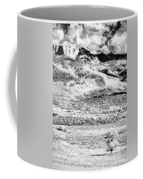 Art Coffee Mug featuring the digital art One Stands Alone II by Jon Glaser