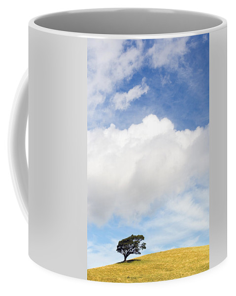 Landscape Coffee Mug featuring the photograph One Tree Hill by Mal Bray