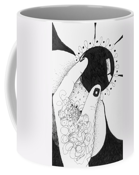 Determination Coffee Mug featuring the drawing One Way Or Another by Helena Tiainen