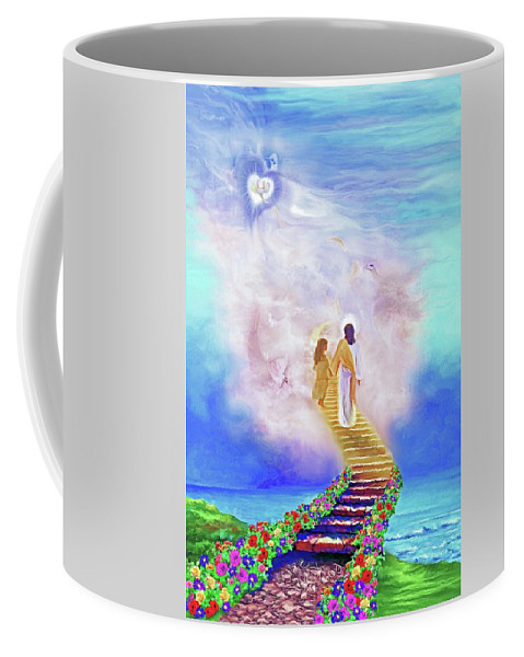 Christian Painting Coffee Mug featuring the painting One Way To God by Susanna Katherine