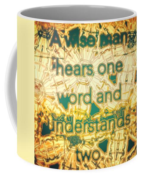 One Coffee Mug featuring the digital art One Word by Marko Sabotin