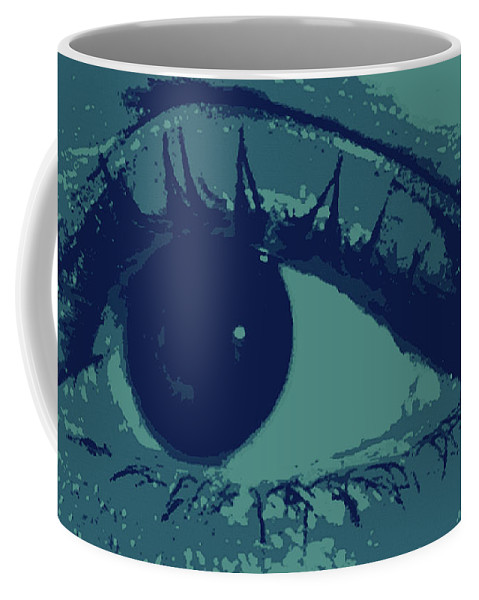 Eye Coffee Mug featuring the digital art Ones Own Eye by DigiArt Diaries by Vicky B Fuller