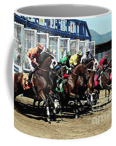 Horse Coffee Mug featuring the photograph Only A Mile To Go by Kathy McClure