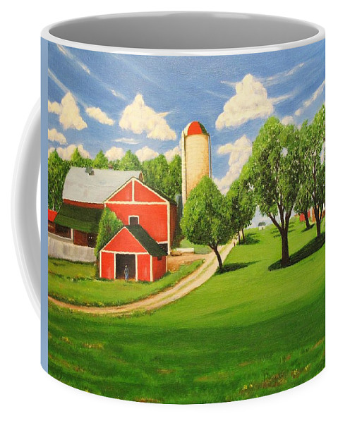 Summer Coffee Mug featuring the painting Ontario Farm by Frank Anatol