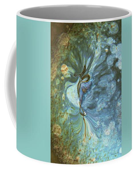 Abstract Coffee Mug featuring the digital art Onward by Linda Sannuti