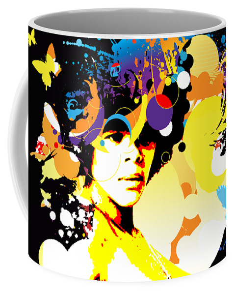 Nostalgic Seduction Coffee Mug featuring the photograph Onxy Doves - Bespattered by Chris Andruskiewicz