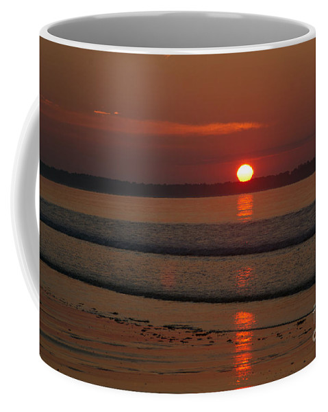 Shore Coffee Mug featuring the photograph Oob Sunrise 2 by Ray Konopaske