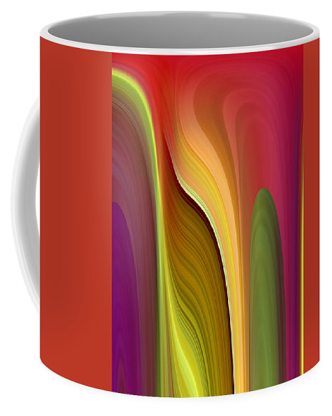 Abstract Coffee Mug featuring the digital art Oomph by Ruth Palmer