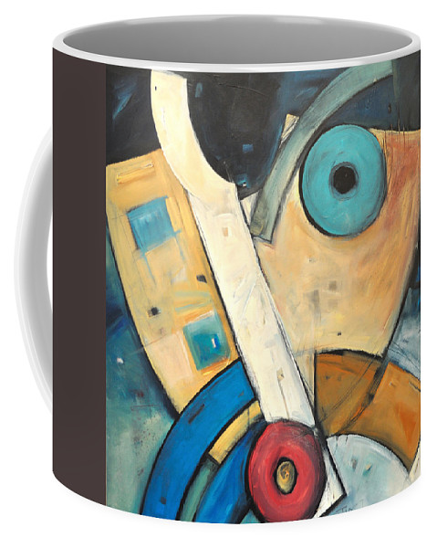 Face Coffee Mug featuring the painting Ooo by Tim Nyberg