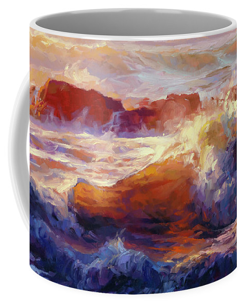 Ocean Coffee Mug featuring the painting Opalescent Sea by Steve Henderson
